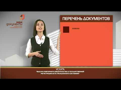 """""""Мои документы"""". Выдача повторного свидетельства из ЗАГСа"""