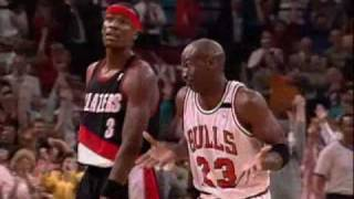 Michael Jordan 1992 NBA finals against Portland