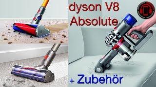Dyson V8 Absolute Unboxing + Zubehör reinigen und leeren [Deutsch/German]