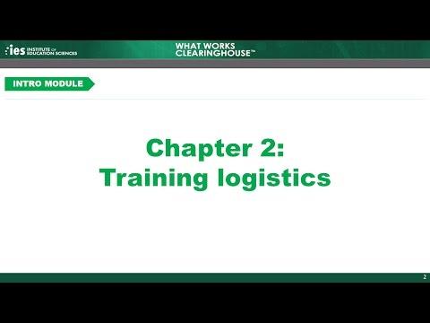 Introduction, Chapter 2: Training Logistics - YouTube