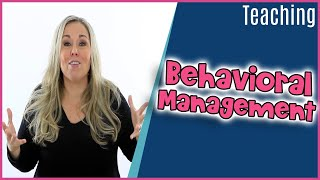 How I Structure My Behavior Management Plan