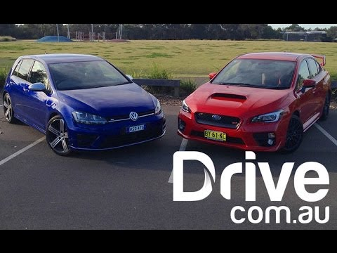 Golf R v WRX STI Comparison | Drive.com.au