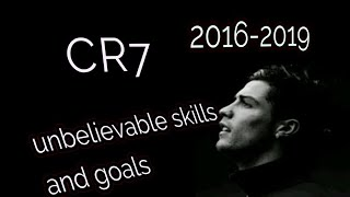 Christiano Ronaldo unbelievable skills and goals CR7 by football forever .