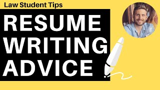 Resume Writing Advice for Law Students | Law Student Tips