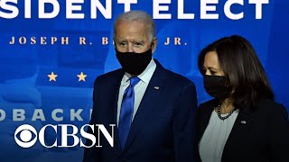 President-elect Biden calls on Americans to wear masks for his first 100 days in office