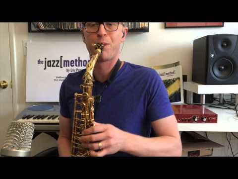 Me showing off my jazz and saxophone skills.