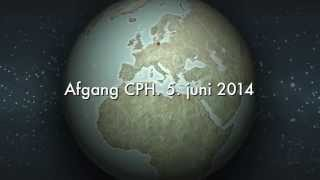 preview picture of video 'Exit from CPH 5. july 2014'