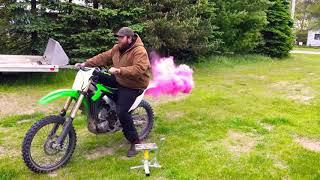 Dirtbike gender reveal