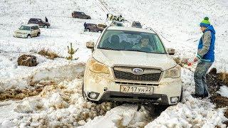 МЫ ОФИГЕЛИ! ПРАДО НЕ МОЖЕТ ЗАЕХАТЬ НИКУДА. Toyota Land Cruiser Prado на снегу
