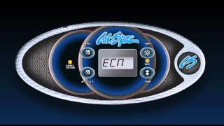 The control panel of your Cal Spas