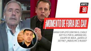 ¡MOMENTO DE FURIA DEL CAI! #Aimar explotó contra #Sottile por el armado del equipo de #Boca