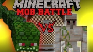 Iron Golem Vs Naga - Minecraft Mob Battles - Twilight Forest Mod
