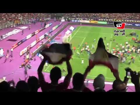 احتفال هيستيري في «برج العرب» بعد تأهل مصر لكأس العالم