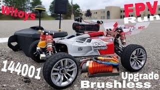 Wltoys 144001 Brushless Upgrade (FPV Run) 100 km/hr Beast!!!