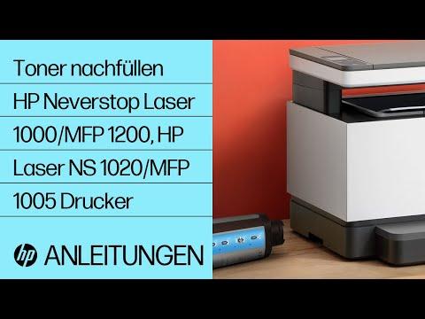 So füllen Sie Toner mit einem Toner-Nachfüllkit bei HP Neverstop Laser 1000/MFP 1200, HP Laser NS 1020/MFP 1005 Druckerserien nach
