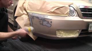 Покраска бампера с помощью аэрозолей