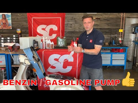 Tank leeren / Benzin abpumpen - manuelle Benzinpumpe Handpumpe Hünersdorff  3333574