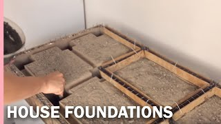 HOW  TO MAKE the FOUNDATIONS of a HOUSE ---- como hacer los CIMIENTOS de una casa