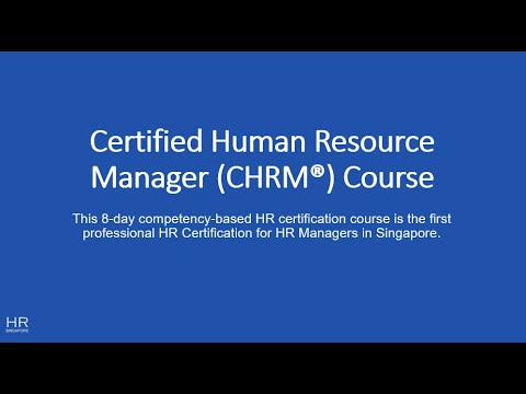 Certified Human Resource Manager (CHRM) Course - YouTube