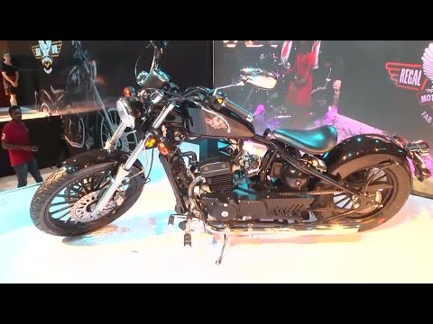 Regal Raptor Bobber 350 At Hyderabad International Auto Show 2015 - Hybiz.tv