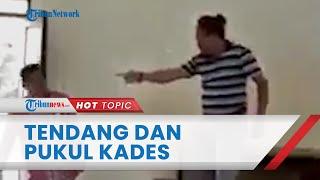 Viral Video Seorang Pria Aniaya Kades di Jombang, Tendang dan Pukul Korban, Ini Kronologinya