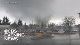 Rare tornado touches down outside Seattle