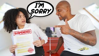 Telling My DAD I GOT SUSPENDED FROM SCHOOL!! Tiana Wilson