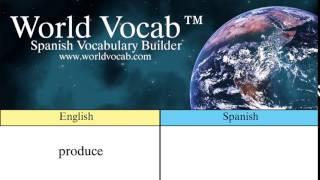 Free Spanish Quick Vocab™ :Produce - productos agrícolas