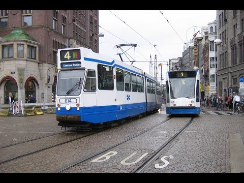 Trams in Amsterdam