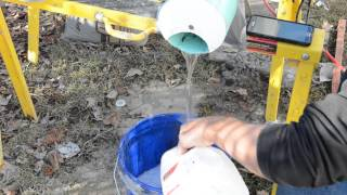 Making foam with Green Dragon for Air-Crete with Basalt
