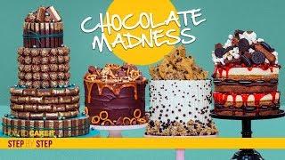 4 Decadent Chocolate CAKES   Chocolate Madness Compilation   How To Cake It   Yolanda Gampp