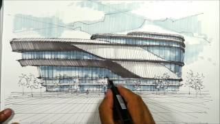Architectural Sketching Pavillion 1