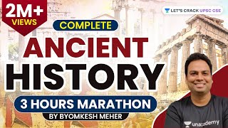 Complete Ancient History | 3-Hour Marathon | UPSC CSE/IAS 2020/2021 | Byomkesh Meher - Download this Video in MP3, M4A, WEBM, MP4, 3GP