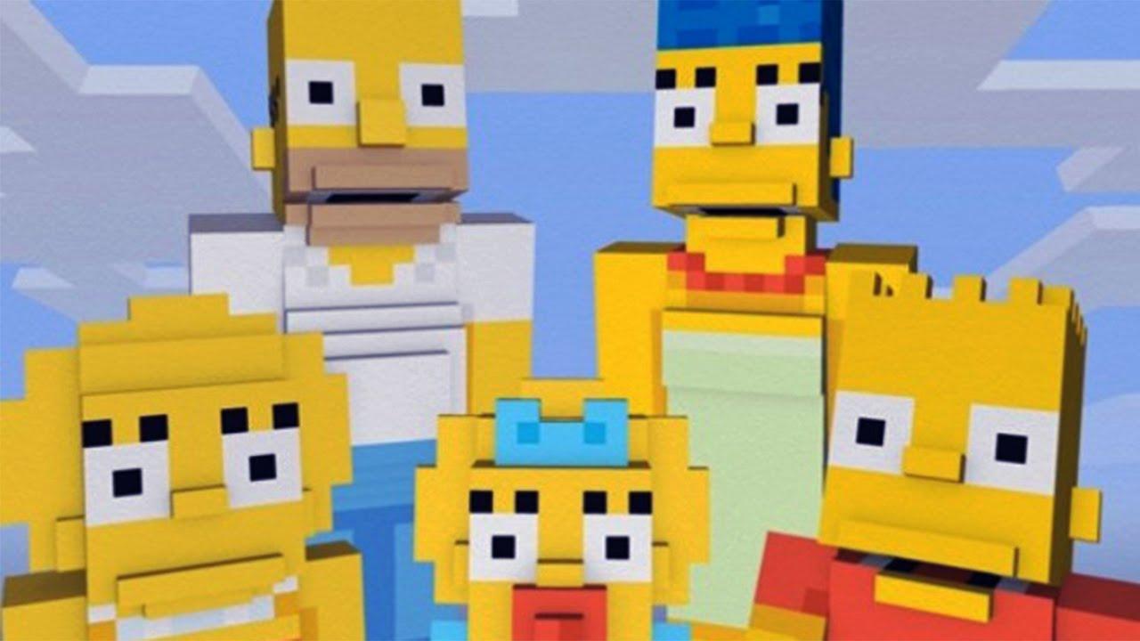 MINECRAFT – The Simpsons Skin Pack #VideoJuegos #Consolas