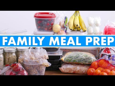 Video Healthy Family Meal Prep for the Week! - Mind Over Munch