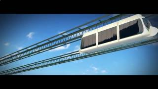 Visualization of the transport system SkyWay