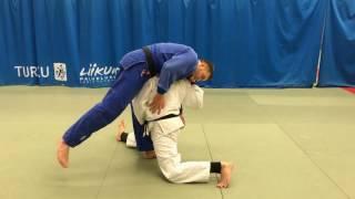 Дзюдо. Бросок бычок. Judo. Kata otoshi. Kata guruma.