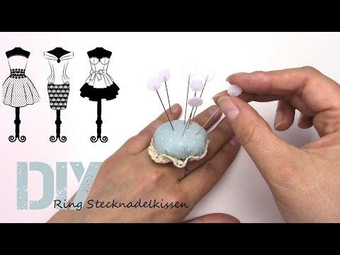 Stecknadel Kissen Ring DIY haute couture
