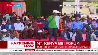 Raila Odinga closes BBI meeting Mt. Kenya Chapter | MT. KENYA BBI FORUM