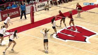 Top 5 Plays: Nebraska at Wisconsin | Big Ten Volleyball