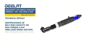 Pneumatic Air Impact Ratchet Wrench - M5 - 800 RPM, 5 N.m