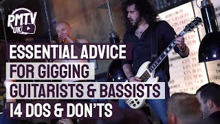14 Tips for Gigging Guitarists - Dagan's Dos & Don'ts of Playing Gigs