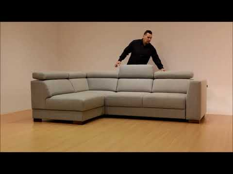 Halti Sectional sofa with sleeper and storage, fabric  Lens 700