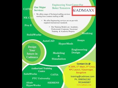 CAD/CAE, SolidWorks, Catia, Unigraphics, Autocad, pro e Training ...