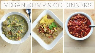 DUMP DINNERS | Healthy Slow Cooker Recipes (Meal Prep)