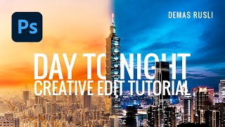 How to combine DAY & NIGHT photos together // Photoshop Tutorial