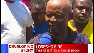 Fire in Loresho: Fire guts down property of unknown value in Loresho