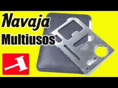 Tarjeta navaja supervivencia emergencia en acero multi usos portatil de bolsillo camping 11 en 1