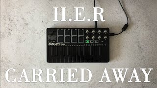 H.E.R   Carried Away Instrumental Cover  Akai Mpk Mini Mk2 Black|OVN