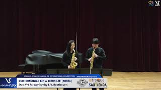 DUO D. KIM & Y. LEE play Duo nº1 by L. V. Beethoven #adolphesax